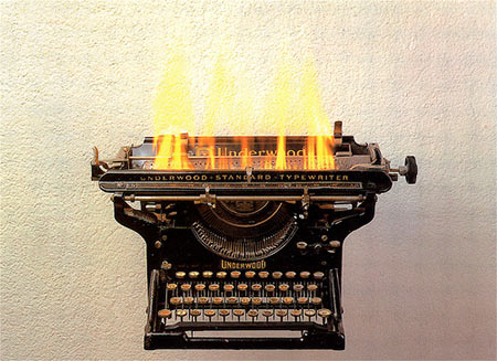flaming-typewriter